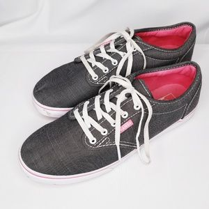 Vans Gray and Pink Size 8 Shoes